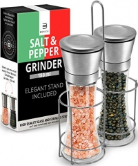 ihocon: Salt & Pepper Grinder Set – 2 Tall 6 Oz Glass鹽和胡椒研磨器一組