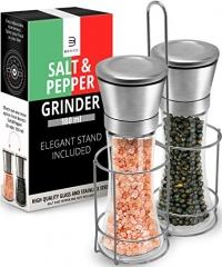ihocon: Salt & Pepper Grinder Set – 2 Tall 6 Oz Glass鹽和胡椒研磨器一組