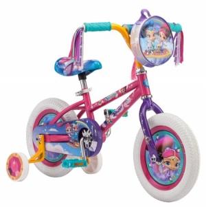 ihocon: Nickelodeon Shimmer 'n Shine 12 Bicycle Ride on for Girls in Pink 兒童輔助輪腳踏車