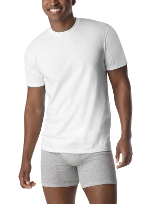 ihocon: Men's Extreme Value FreshIQ ComfortBlend 12 Pack White Tagless Crew T-Shirt - Walmart.com