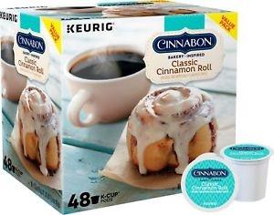 ihocon: Cinnabon - Classic Cinnamon Roll K-Cup Pods (48-Pack)