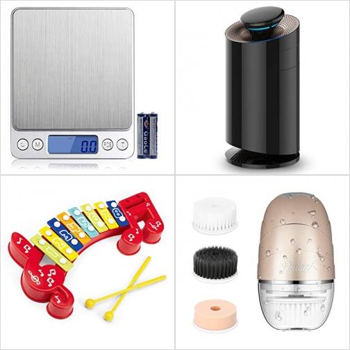 [Amazon折扣碼] 廚用電子秤, 空氣清淨機/空氣淨化器, 兒童玩具木琴, 電動洗面刷 額外折扣!