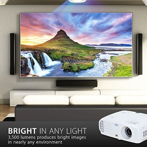 ihocon: [白天也可看] ViewSonic 4K Projector with 3500 Lumens HDR Support and Dual HDMI for Home Theater Day and Night (PX747-4K) 家庭影院投影機