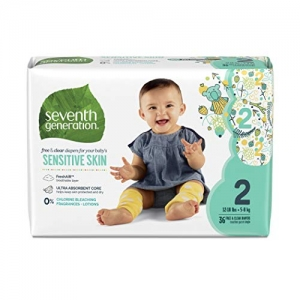 ihocon: Seventh Generation Baby Diapers, Size 2, 144 Count 嬰兒尿片