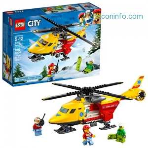 ihocon: LEGO City Great Vehicles Ambulance Helicopter 60179 Building Kit (190 Piece)