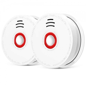 ihocon: 2-Pack Coowoo Smoke Detector with Test Button  自動偵煙器