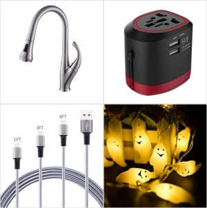 [Amazon折扣碼] 廚房水龍頭, 旅行萬用插座, lightning cable, 萬聖節LED裝飾燈 額外折扣!