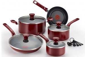 ihocon: T-fal C511SE Excite Nonstick Thermo-Spot Dishwasher Safe Oven Safe PFOA Free Cookware Set, 14-Piece 不沾鍋組