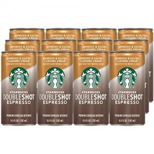 ihocon: Starbucks Doubleshot Espresso, Salted Caramel, 12 Count, 6.5 fl oz Cans