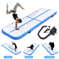 ihocon: fastUU Inflatable Gymnastics Air Track Tumbling Mat with Electric Pump充氣體操墊+電動打氣幫浦