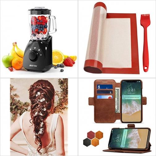 [Amazon折扣碼] Smoothie Blenders破壁果汁機, 矽膠烤盤墊及油刷, 珠花髮飾, iPhone X皮夾式手機套 額外折扣!