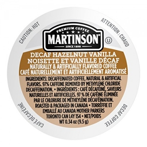 ihocon: Martinson Single Serve Coffee Capsules, Hazelnut Vanilla Decaf, 24 Count低咖啡因咖啡膠囊