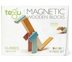 ihocon: 14 Piece Tegu Magnetic Wooden Block Set, Sunset 磁性積木