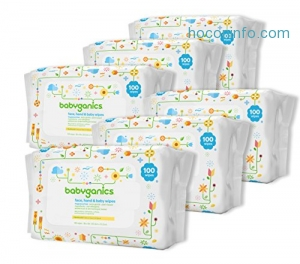 ihocon: Babyganics Face, Hand & Baby Wipes, Fragrance Free, 600 Count 無香精嬰兒濕巾