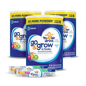 ihocon: Go & Grow by Similac Milk Based Toddler Drink, (Pack Of 3) 36oz cans + 2 On-The-Go Stickpacks 幼兒牛奶飲品