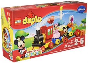 ihocon: LEGO Duplo Brand Disney 10597 Mickey and Minnie Birthday Parade Building Kit 樂高迪士尼米奇和米妮生日遊行