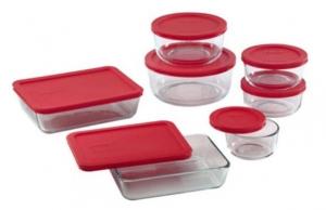 ihocon: Pyrex 14-Piece Storage Plus Set玻璃保鮮盒