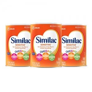 Similac Sensitive Infant Formula with Iron敏感嬰兒奶粉(適用於煩躁及脹氣) 3罐 $64.79免運(原價$92.55, 30% Off)