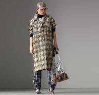 ihocon: Burberry Scribble Check Cotton Gabardine Car Coat