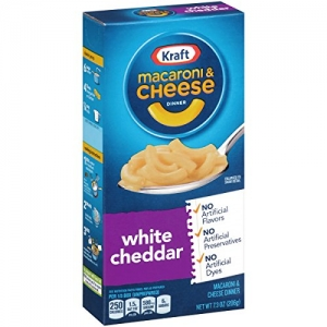 ihocon: Kraft Macaroni and Cheese Dinner, White Cheddar, 7.25 Ounce Box (Pack of 8 Boxes)