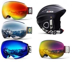 [Amazon 今日特賣] ZIONOR滑雪護目鏡及安全頭盔(共2頁) 特價優惠