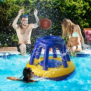 ihocon: Sable Inflatable Pool Basketball Hoop with Basketball水上充氣籃球框+籃球