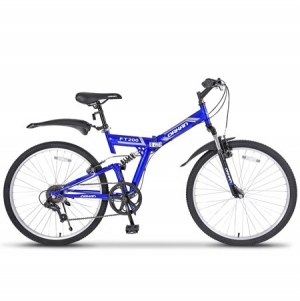 "ihocon: Uenjoy 26 Reinforced Mountain Bike Foldable 7 Speed with Hybrid Suspension Shimano Folding bike 26""可折疊7速自行車"
