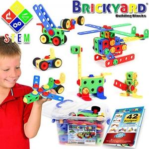 ihocon: Brickyard Building Blocks 163 Piece STEM Toys Kit 組合積木