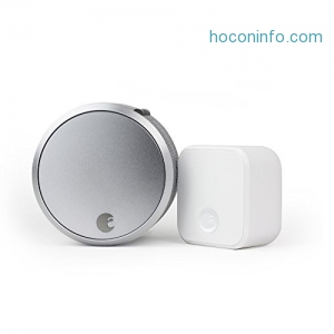 ihocon: August Smart Lock Pro + Connect, 3rd gen technology - Silver, works with Alexa智能門鎖