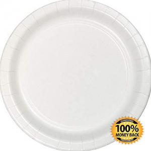 ihocon: ArtMuseKit 533272 Touch of Color 96 Count Dessert/Small Paper Plates, White 小紙盤