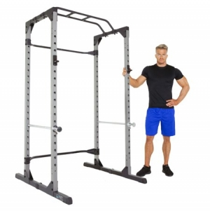 ihocon: Progear 1600 Ultra Strength 800lb Weight Capacity Power Rack Cage with Lock-in J-Hooks健身器材