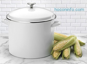 ihocon: Cuisinart 16-Quart 琺瑯鍋 Enamel Stockpot with Cover