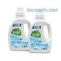 ihocon: Seventh Generation Natural 4X Concentrated Laundry Detergent Free and Clear Unscented, 106 loads, 40 Fl Oz (Pack of 2)