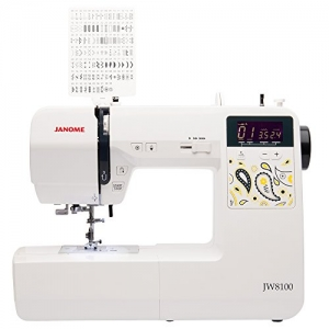 ihocon: Janome JW8100 Fully-Featured Computerized Sewing Machine with 100 Stitches, 7 Buttonholes, Hard Cover, Extension Table and 22 Accessories電腦縫紉機