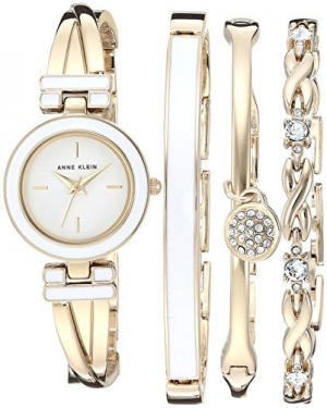 ihocon: Anne Klein Women's Swarovski Bangle Watch and Bracelet Set 施華洛世奇水晶女錶及手鍊