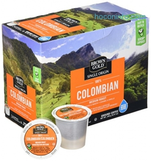 ihocon: Brown Gold, 100% Columbian Coffee, 24 Single Serve RealCups