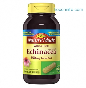 ihocon: Nature Made Echinacea 350 mg Capsules 100 Ct 紫錐花