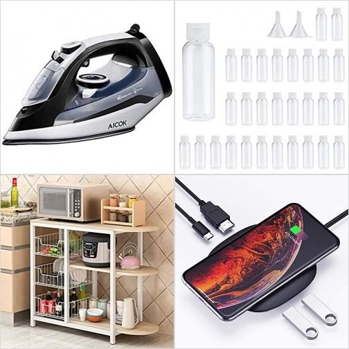 [Amazon折扣碼] 蒸氣熨斗, 旅行分裝瓶, 廚房收納架, USB C Hub Adapter/無線充電器 額外折扣!