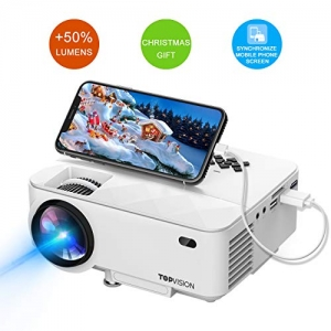 ihocon: TOPVISION Full HD 1080p 2200-Lumens LED Portable Projector 投影機