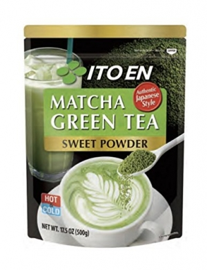 ihocon: Ito En Matcha Green Tea, Sweet Powder, 17.5 Ounce (Pack of 1), Sweetened, Japanese Matcha Powder Mix  抹茶粉