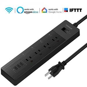 ihocon: [不在家也能遙控電器] TESSAN Smart Power Strip Work with Echo/Google Home/IFTTT 智能延長線