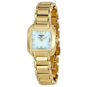 ihocon: TISSOT女錶 T-Wave White Mother of Pearl Dial Ladies Watch Item No. T02.5.285.82