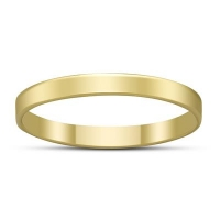 ihocon: 2.25MM FLAT PLAIN 14K YELLOW GOLD FILL BAND