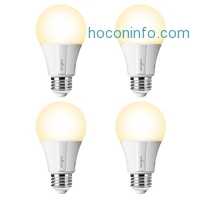 ihocon: Sengled Element Classic Smart LED Bulb- 4 Pack, A19 60W Equiv, Works with Amazon Echo Plus & SmartThings, Hub Required for Amazon Alexa & Google Assistant智能燈泡