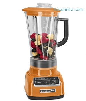 ihocon: KitchenAid KSB1575TG 5-Speed Diamond Blender with 60-Ounce BPA-Free Pitcher - Tangerine