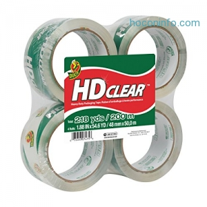 ihocon: Duck HD Clear Heavy Duty Packaging Tape Refill, 4 Rolls封箱膠帶