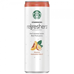 ihocon: Starbucks Refreshers Sparkling Juice Blends, Peach Passion Fruit with Coconut Water, 12 Ounce, 12 Cans