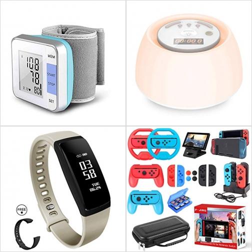 [Amazon折扣碼] 手腕血壓計, 自然喚醒燈/鬧鐘, 心率監測運動手環, Nintendo Switch配件 額外折扣!
