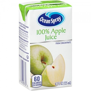 ihocon: Ocean Spray 100% Apple Juice Drink, 4.2 Ounce Juice Boxes (Pack of 40)