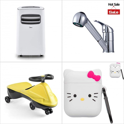 [Amazon折扣碼] 移動式冷氣機, 廚用水龍頭, 扭扭車, Airpods保護袋 額外折扣!